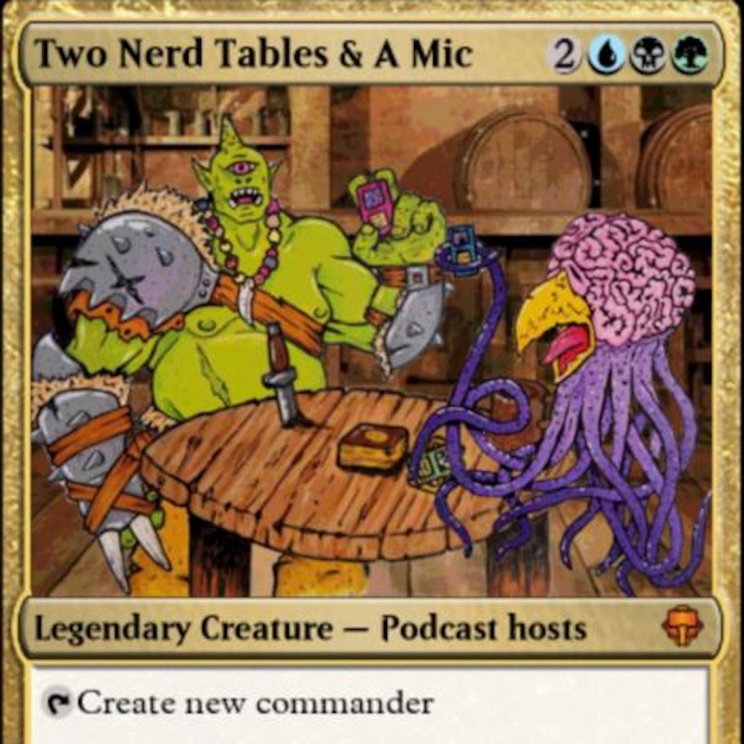 Two Nerd Tables and a Microphone